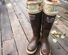 SLUGS Fleece Rain Boot Liners Autumn Mustard Brown by WithTheRain