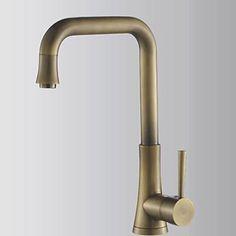 Antique Brass Oil Rubbed Bronze Single Handle Kitchen Faucet