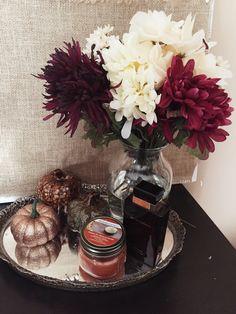 Styling Dollar Tree Fall Decorations/ My fall fake flower arrangement I diyed…