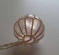 Rose Quartz Necklace ~ Pendant ~ Sphere