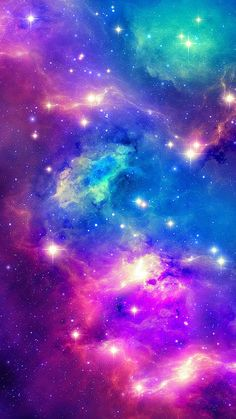 Sparkling Shiny Fantasy Outer Space iPhone 8 Wallpapers