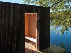 Floating sauna in Sweden, an architecture by Small Architecture Workshop for Stilleben Sweden - Amotsbruk / Landscape Architecture / Contemporary Architecture / Outdoor Sauna, Outdoor Walls, Outdoor Decor, Design Sauna, Building A Sauna, Floating Architecture, Contemporary Architecture, Landscape Architecture, Floating Platform