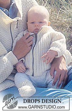 DROPS Vest en sokjes in boordsteek voor baby's en peuters van Karisma. Maat 3 maanden – 3 jaar. Gratis patronen van DROPS Design.