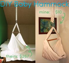 DIY Baby Hammock. if i could convince najib to hook this into a ceiling..
