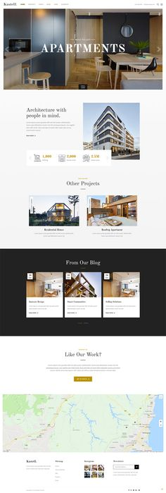 Kastel – Theme for Single properties and Apartments - Kastel is a stunning, modern property WordPress theme for architecture business, building design an - Architecture Company, Modern Architecture House, Architecture Portfolio, Architecture Details, Website Design Layout, Website Design Inspiration, Layout Design, Website Designs, Web Layout