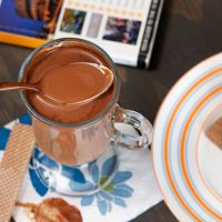 Thick Italian Hot Chocolate from livelovepasta