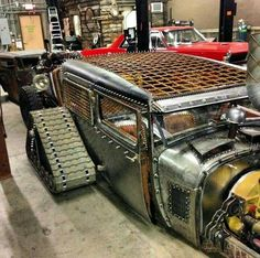Awesome Rat Rod with Tank Treds