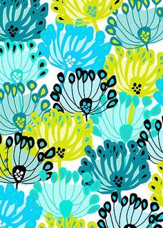 Pippa loves: this cool spring flower head pattern by the very talented Jocelyn… Design Floral, Motif Floral, Arte Floral, Graphic Patterns, Cool Patterns, Print Patterns, Block Patterns, Textile Prints, Textile Patterns