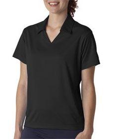 UltraClub Women's V-Neck Collar Sport Polo Shirt, Black, Small by UltraClub. $31.58