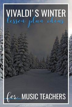 Listening and movement lesson ideas for Vivaldi's winter. Paper-plate skating would be a fun movement activity for the music classroom in the winter.