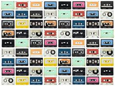 Mixed Tape | R11042 | Fotobehang | Rebel Walls de Nederland