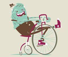 monster on bike