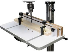 MLCS 2326 Drill Press Table and Fence with T-Track Hold Downs Included - Amazon.com