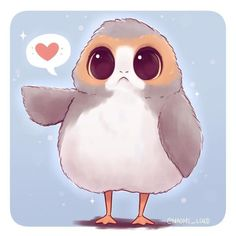 FANART :《 Porg 》- Star Wars | @naomie_lord