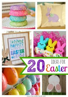 20 great ideas for celebrating Easter including diy crafts, projects, festive foods, and decorations. Easter 2015, Easter Art, Hoppy Easter, Easter Crafts, Crafts For Kids, Diy Crafts, Easter Ideas, Food Crafts, Easter Food