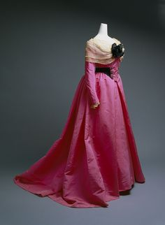 1893-1900 silk evening dress by Charles Frederick Worth (French)