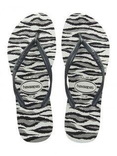 Havaianas Slim, zebra/grå, klip-klap (flip-flop) - NETSKO.dk: str. 35/36-41/42 kr. 249,-