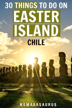 Easter Island or (Rapa Nui or Isla de Pascua) , often cloaked in mystery, is a must visit if you travel Chile. From the maoi heads to its incredible history, here are 30 things to do! South America Destinations, South America Travel, Cool Places To Visit, Places To Travel, Travel Destinations, Easter Island Travel, Patagonia, Chili, Argentine