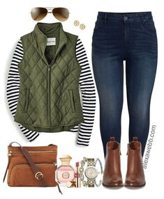 Plus Size Preppy Fall Outfit - Plus Size Winter Outfit Ideas - Plus Size Fashion., Winter Outfits,Winter is the coldest season beginning from December to February in the northern side of the equator and in the southern half of the globe from June t. Preppy Fall Outfits, Casual Winter Outfits, Trendy Outfits, Autumn Outfits, Outfit Winter, Women's Casual, Casual Fall, Winter Boots, Vest Outfits For Women