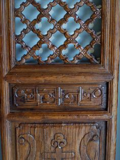 CHINESE DECORATIVE DOORS   7758 Set of four Chinese carved wood doors with open carving c1700 For ...