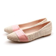 Patent Strap Pointed Toe Ballerina (Pink)