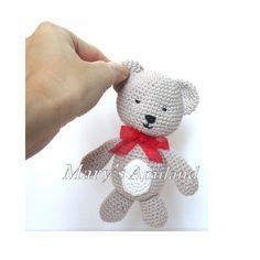 Tino Bear The Ami - Amigurumi Crochet Pattern - Digital Download - pinned by pin4etsy.com