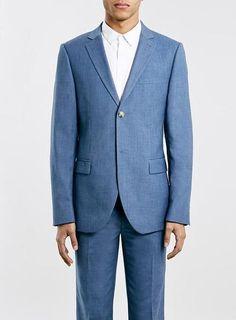 Mid Blue Slim Suit - TOPMAN #suit #formal #men #covetme