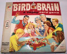 Vintage 1966 BIRD BRAIN Cagey Card Game by Milton Bradley