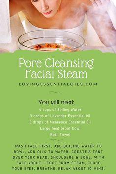 Pore Cleansing Facial Steam Essential Oil Recipe   Lavender Oil   Melaleuca Oil   Natural Skin Care Face Steamer   Homemade DIY Pore Cleanser   Facial At Home