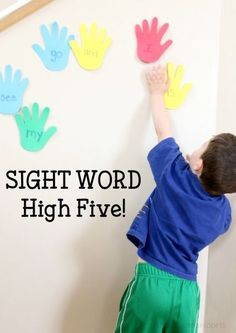 Sight Word High Five School Time Snippets Preschool Sight Words, Teaching Sight Words, Sight Word Practice, Sight Word Activities, Phonics Activities, Kindergarten Literacy, Preschool Learning, Activities For Kids, Fun Learning