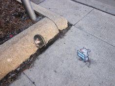 Love the mouse...Street Art Gallery   David Zinn