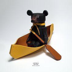 Leather bear No.010 by HeritageByHuns on Etsy