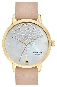 "Kate Spade ""Metro"" Leather Strap Watch"