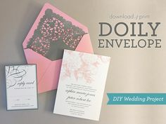 DIY doily envelope liners | Download & Print