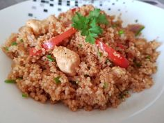 Zöldséges couscous csirkehússal♡