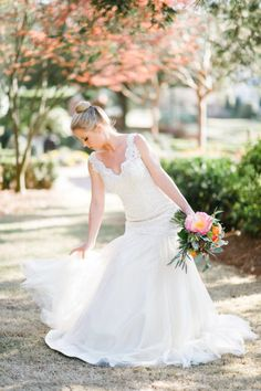 Beautiful gown: http://www.stylemepretty.com/little-black-book-blog/2015/02/25/dazzling-hot-pink-wedding-inspiration-a-pop-of-confetti/ | Photography: Caroline Lima - http://www.carolinelima.com/