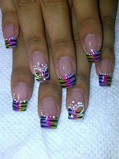 50 + Zebra Stripe Nail Art Designs Source by kevinguokoo Zebra Stripe Nails, Nail Art Stripes, Nail Tip Designs, Pretty Nail Designs, Art Designs, Fancy Nails, Pretty Nails, French Tip Nails, Hot Nails