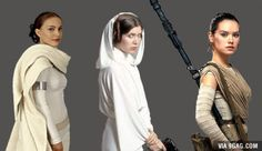Actual Padme, Leia, Rey