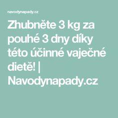 Zhubněte 3 kg za pouhé 3 dny díky této účinné vaječné dietě! | Navodynapady.cz