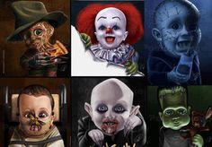 Horror icons as babies