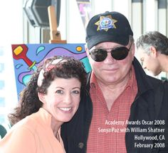 Sonya Paz and William Shatner  Hollywood, CA  http://sonyapaz.com. Two wonderful, talented people!