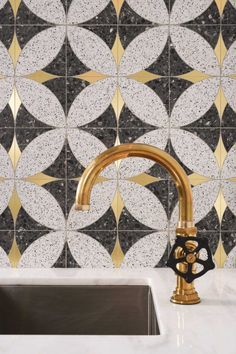 Mosaique Surface - Stella 03 | Opus Artis Tile Accent Wall, Wall Tiles, Perfect Marriage, Technical Drawing, Mother Pearl, Terrazzo, Signature Style, Polished Nickel, Cool Kitchens