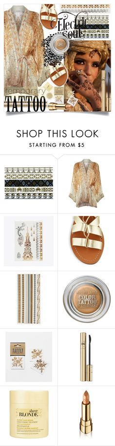 """Today's Tattoos"" by wuteringheights on Polyvore featuring ljepota, Full Tilt, Etro, Kate Spade, Maybelline, Rifle Paper Co, D&G, Dolce&Gabbana i temporarytattoo"