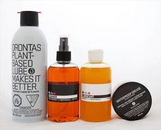 "Designed by Orontas | Country: Canada ""Orontas is fundamentally about keeping things simple and being straight forward. When we entered the cycling maintenance market last year with our Bike Care Lubricant in Canada we were overwhelmed by how cluttered it was with over sized product lines; some we're toxic, some are wax, some are synthetic, some are ""green""."