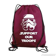Maroon Support Our Troops Drawstring Workout Gym Bag  Price : $14.00 http://www.pumabot.com/Maroon-Support-Troops-Drawstring-Workout/dp/B00LXLHLJI