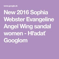 New 2016 Sophia Webster Evangeline Angel Wing sandal women - Hľadať Googlom Sophia Webster, Angel Wings, Women, Sandals, Woman