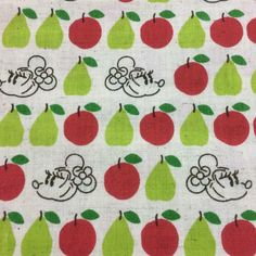 Fat Quarter - Disney - Minnie/ Red Apples/Green Pears- Cotton Linen Blend-  Made in Japan by FabricAndCraftAvenue on Etsy https://www.etsy.com/listing/221605085/fat-quarter-disney-minnie-red