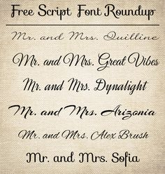 FAB Guide ✈ Calligraphy Wedding Invitations | Fonts, Invitations ...