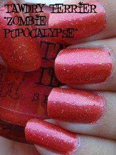 "@TawdryTerrier ""Zombie Pupocalypse"" in the shade - only 2 bottles available at https://www.etsy.com/shop/TawdryTerrier #nailpolish #halloween #indienailpolish #halloween"