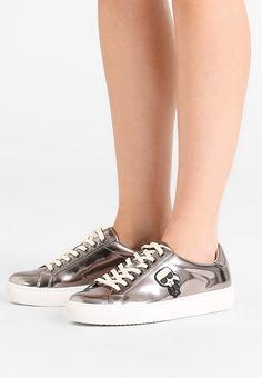 KARL LAGERFELD KUPSOLE IKONIC LACE - Sneakers - dark silver metallic - Zalando.se